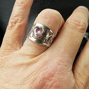 Sterling Silver Kunzite Ring Size 6